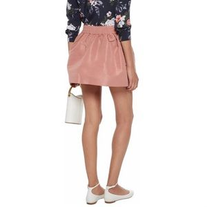 RED VALENTINO Faille pink mini skirt